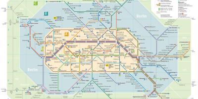 Metro De Berlin Mapa.Berlim Mapa Mapas De Berlim Alemanha
